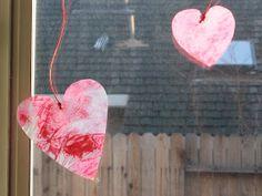 A Britt Without Boys: Valentine Sun Catcher Craft