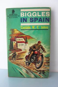 Biggles 1960s paperback book, written by captain W E Johns, Biggles in Spain, vintage children's book, World war II novel, vintage kids book by thevintagemagpie01 on Etsy Books For Boys, Childrens Books, My Books, Vintage Kids, Vintage Children's Books, Aqua, Teal, Turquoise, Action Story