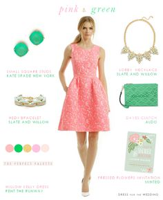 Wedding Wardrobe: Fashion Ideas from Dress for the Wedding! www.theperfectpalette.com - Styled by Color!