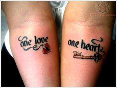 Unique Tattoo Designs For Couples: Love Lock And Key Tattoo Designs For Couples On Arm ~ Men Tattoos Inspiration