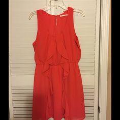 HAE tank dress NWOT chiffon dress color Coral size large HAE Dresses Mini