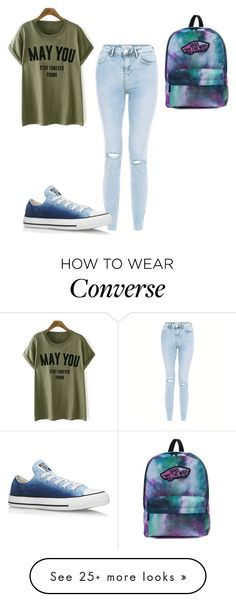 """""""Untitled #474"""" by aminamuratovic3 on Polyvore featuring Converse and Vans"""