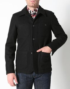 The navy jacket.