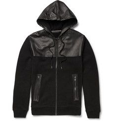Marc by Marc Jacobs Luke Leather-Panelled Jersey Hoodie Mens Designer  Hoodies eb6ea40b34c4a