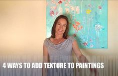 In this short demonstration video, I'll show you four different ways to add texture to your paintings by using various acrylic products that can be mixed with just about anything to enhance your acrylic or mixed-media paintings. Mixed Media Painting, Painting Tips, Mixed Media Techniques, Handmade Stamps, Your Paintings, Ads, Texture, Drawings, Pastels