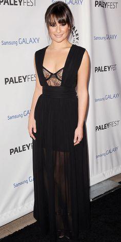 Lea Michele in Vivienne Tam (2013 PaleyFest)