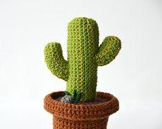 Patrón de ganchillo pequeño Cactus cactus de por VliegendeHollander