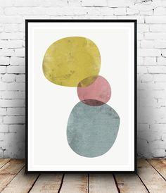 Watercolor print, Abstract art, Minimalist print, Abstract print, Abstract watercolor, nordic style, home decor, wall art, minimalist art,