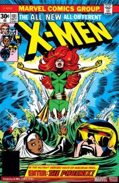 "Dave Cockrum's 1976 cover for ""X-Men"" No. 101, featuring Jean Grey emerging as the Phoenix. (Dave Cockrum / Marvel)"