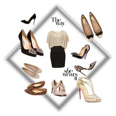 A fashion look from March 2015 featuring Christian Louboutin pumps, Manolo Blahnik pumps and Nly Shoes pumps. Browse and shop related looks.
