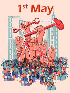 1 May international workers labor day poster hand drawn vector 10 Labor Signs And Symptoms, Labor Day Clip Art, Holi Greeting Cards, Labor Inducing Tricks, Delivery Nurse Gifts, Delivery Bag, 1st May Labour Day, Labor Day Pictures, Labour Day Wishes