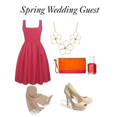 A vibrant outfit for a guest to wear at a Spring Wedding