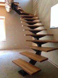 Staircase Handrail, Interior Staircase, Modern Staircase, Staircase Design, Home Interior, Interior Design, Escalier Art, Escalier Design, Stair Renovation