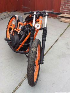 "Meet Brian's xs 650 chopper which he named ""Tango Board Racer"""