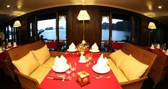 Duration : 2 days / 1 night Tour route : Hanoi – Halong Bay – Hanoi Tour Price : Contact Us Overview Bhaya cruises on Ha. Cozy Bar, Local Legends, Ha Long Bay, Luxury Restaurant, Glass Of Champagne, Outdoor Furniture Sets, Outdoor Decor, Vietnam Travel, Hanoi