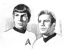 Kirk and Spock by TrevorGrove.deviantart.com on @DeviantArt