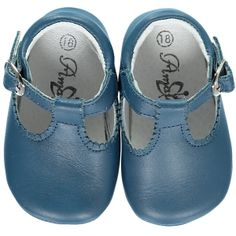 Soft Baby Boy t-bar shoes - Denim blue