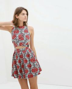 Love this African- print dress from Zara's 2014 TRF collection! #africaninspired