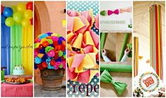 Brighten up your party with crepe paper or Pinocchio