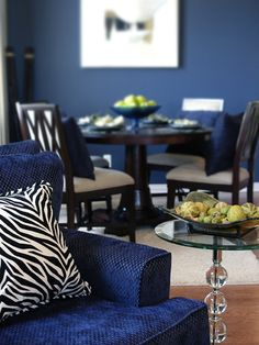 cool blue accent wall