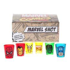 Kit Copos de Shot Marvel - 6 copos