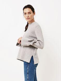 Women's Side Knot Sweater Light Grey