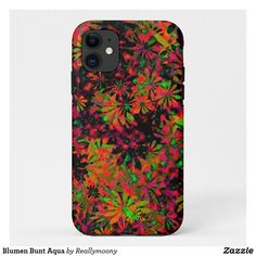 Blumen Bunt Aqua iPhone 11 Hülle Otter Box, Designs, Bunt, Aqua, Phone Cases, Welcome Home, Iphone Case Covers, Business Cards, Postcards