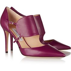 Jimmy Choo Heath Leather Pumps in Red Fab Shoes, Pretty Shoes, Dream Shoes, Crazy Shoes, Beautiful Shoes, Cute Shoes, Me Too Shoes, Jimmy Choo, Zapatos Shoes