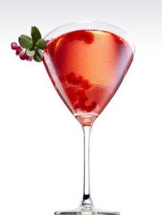Champán de granada y frambuesa. Raspberry Champagne Cocktail.