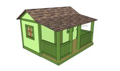 Kids Playhouse Plans | Free Outdoor Plans - DIY Shed, Wooden Playhouse, Bbq, Woodworking Projects