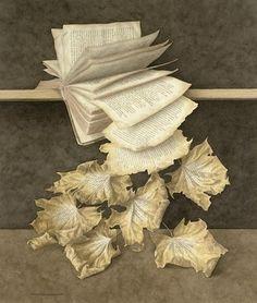 Libro in autunno (illustrazione di Jonathan Wostenholme)