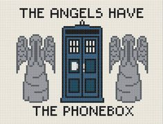 Blink episode - Dr. Who - Cross Stitch Pattern - Love this one!