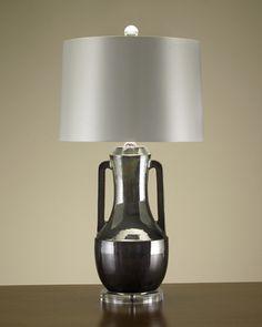 Irridescent Contemporary Urn Lamp