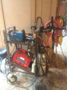 Work in progress. Welding Equipment, Gym Equipment, Welding Cart, Stationary, Bike, Bicycle, Bicycles, Workout Equipment