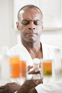 You may want to check your medicine cabinet after reading this.  Man holding pill bottleA new study links long-term use of common medications — including over-the-counter drugs for insomnia and hay fever — to a higher risk of dementia, including Alzheimer's disease. Medications in the study included antihistamines found in Benadryl, sleep aids found in Tylenol PM, and certain antidepressants Common Sleep and Allergy Medications Linked to Dementia, Alzheimer's
