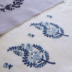 暑い日は涼しげな色合いで。 . . . #2色で楽しむ刺繍生活 #yumikohiguchi #embroidery #刺繍 #刺しゅう #자수 #broderie #bordado #stickerei #ricamo #etsy