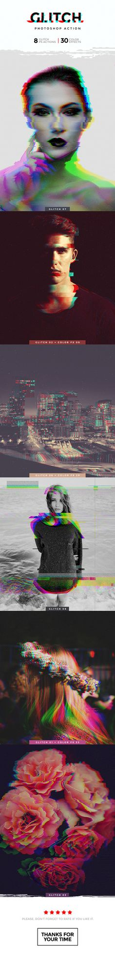 Glitch Photoshop Action — Photoshop ATN #music #pixels • Download ➝ graphicriver.net/...