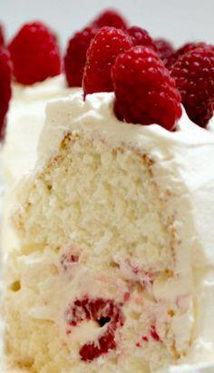 Raspberry Angel Food Cake
