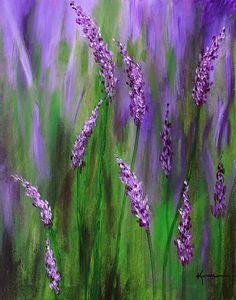 Lavender Garden Painting  - Lavender Garden Fine Art Print