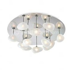 Lâmpadas de teto, 12 de Luz, Artístico aço inoxidável chapeamento MS-86193