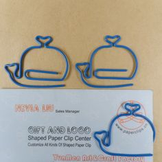 Whale shaped paper clips. It's the little things that make me happy!