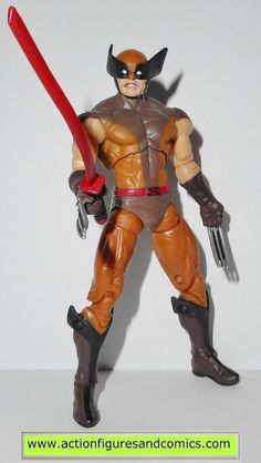 Hasbro toys action figures for sale to buy MARVEL UNIVERSE - series: X-MEN ORIGINS: WOLVERINE 2009 WOLVERINE - comic series brown suit 100% COMPLETE Condition: Overall excellent. nice paint, nice join