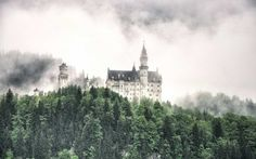 Neuschwanstein Castle in Spring