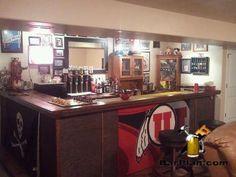 DIY Utah Utes Theme Home Bar