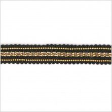 "0.5"" Black/Gold Chain Trim"