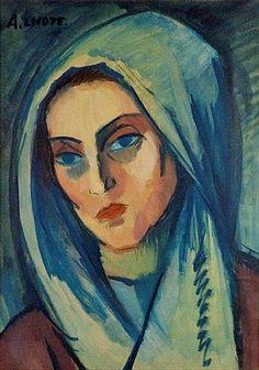 André Lhote (1885 - 1962) |  Post-Impressionism) | Portrait de Jeanne - 1908
