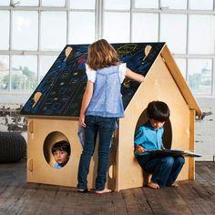 Children's Indoor Chalkboard Playhouse
