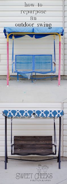 How to Re-Purpose an outdoor swing. DIY Photography Prop.