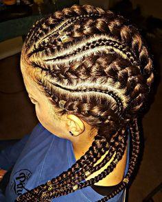Feed Ins ❤ #braids #braiddesigns #feedinbraids #goddessbraids…