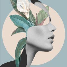 Floral Portrait /collage Comforters by - Queen: x Mode Collage, Collage Art, Collage Magazine, Simple Collage, Portrait Art, Woman Portrait, Female Portrait, Leaf Art, Surreal Art